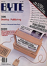 Cover, BYTE May 1987