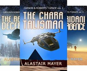 First three books, covers.