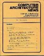 Cover, Computer Architecture News, June 1982